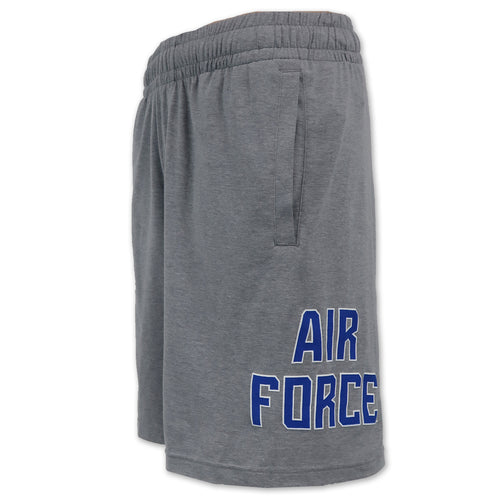 Air Force Under Armour Cotton Jersey Shorts (Steel Heather)