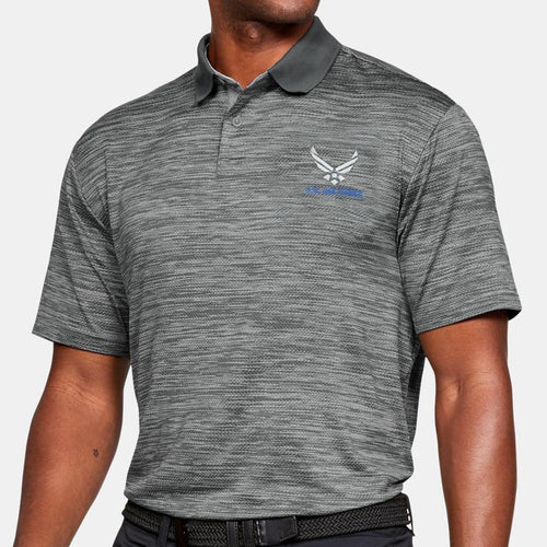 AIR FORCE UNDER ARMOUR WINGS POLO (GRAPHITE) 2
