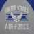 AIR FORCE VINTAGE BASIC BASEBALL T-SHIRT (GREY/ROYAL)