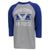 AIR FORCE VINTAGE BASIC BASEBALL T-SHIRT (GREY/ROYAL) 1