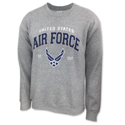 AIR FORCE WINGS EST. 1947 CREWNECK SWEATSHIRT (GREY) 2