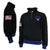 AIR FORCE WINGS FLEECE STRIPE 1/4 ZIP (BLACK) 1