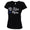 AIR FORCE WINGS LADIES MOM SCRIPT V-NECK T-SHIRT (BLACK) 1