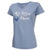 AIR FORCE WINGS LADIES MOM V-NECK T-SHIRT (LIGHT BLUE) 1