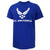 Air Force Wings Logo USA Made T-Shirt (Royal)