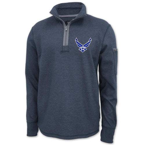 AIR FORCE WINGS MASON VINTAGE 1/4 ZIP PULLOVER (NAVY) 3