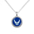 AIR FORCE WINGS ROPE EDGE NECKLACE