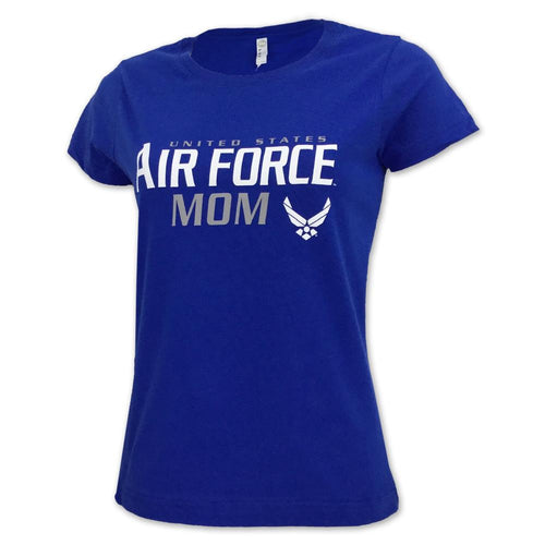 LADIES UNITED STATES AIR FORCE MOM T-SHIRT (ROYAL) 2