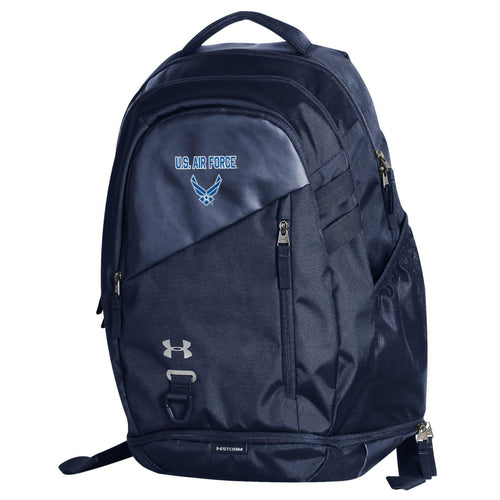 U.S AIR FORCE WINGS UNDER ARMOUR HUSTLE 4.0 BACKPACK (NAVY)