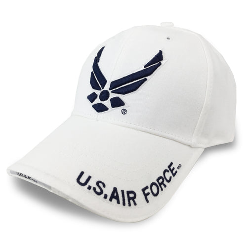 US AIR FORCE WINGS HAT WHITE 6