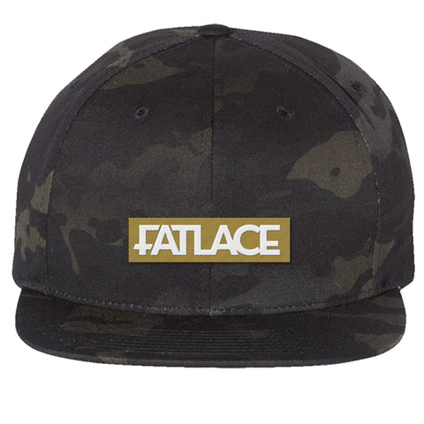 Fatlace Racing Collection Black Camo Snapback