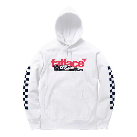 FL-AT01 White Heavyweight Pullover Hoodie