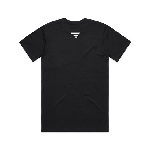 Fatlace Fade To Black Pocket Tee Black