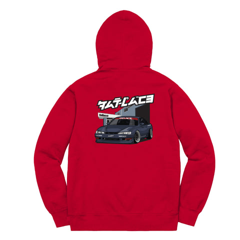 Legends of JDM Paddock Red Heavyweight Hoodie