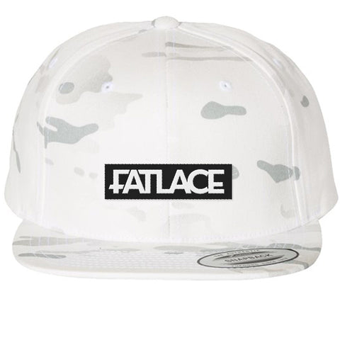 Fatlace Racing Collection White Camo Snapback