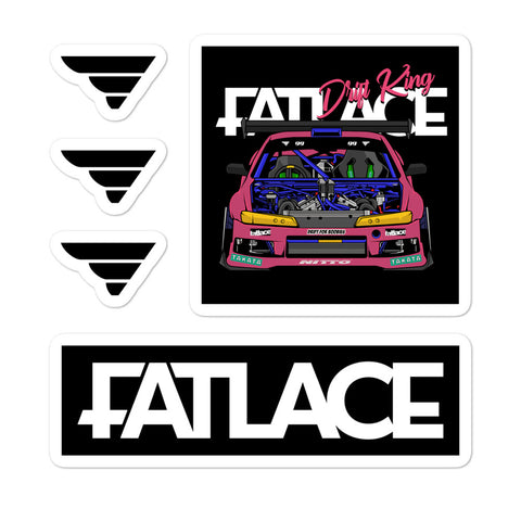Fatlace Racing Sticker Pack - Black