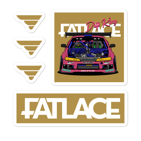 Fatlace Racing Sticker Pack - Gold