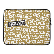 Fatlace Racing Laptop Sleeves - Gold