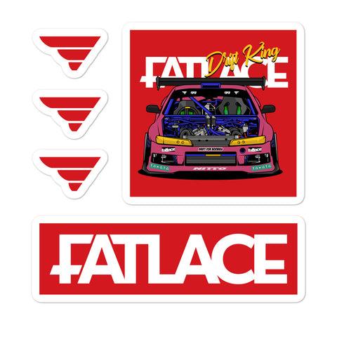 Fatlace Racing Sticker Pack - Red