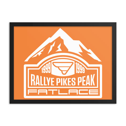Framed Poster - Fatlace Rallye Pikes Peak