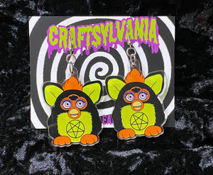 Evil Furby Earrings