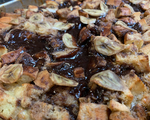 Chocolate Fudge Banana Bread Pudding