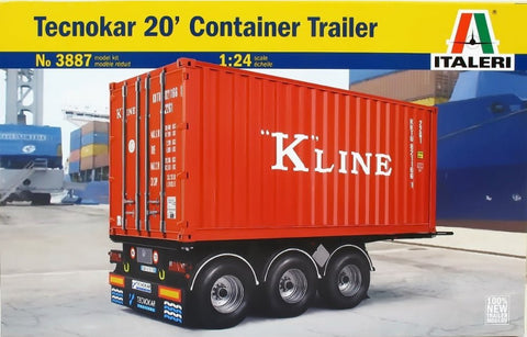 Italeri 1:24 Tecnocar 20 ft Container on