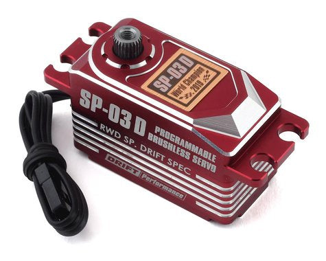 SP-03D Programable Brushless Steering Servo (Red) for DRIFT