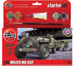 Airfix 1:72 Willys MB Jeep & Trailer