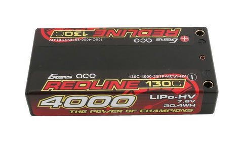 Gens Ace HV 4000mah 2S 7.6v 130C Shorty LCG Lipo Pack