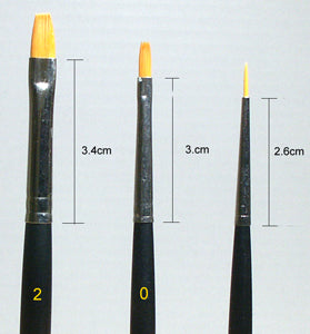 Tamiya Brush 3 Piece Set (Finer High Qua