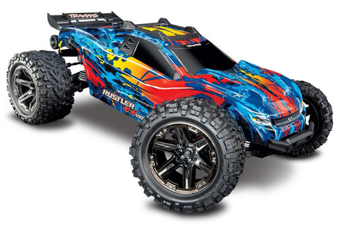 Traxxas Rustler 4x4 VXL Monster Truck Re