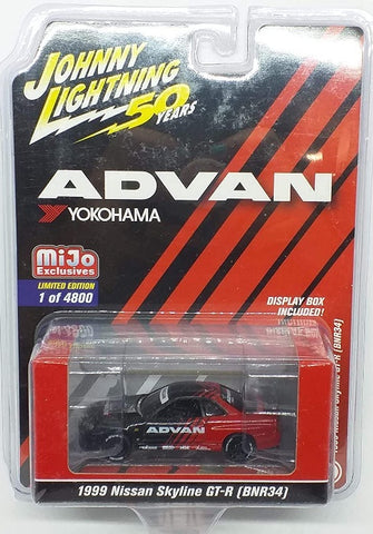 JL 1:64 1999 Skyline GT-R (R34) Advan Mijo Exclusive