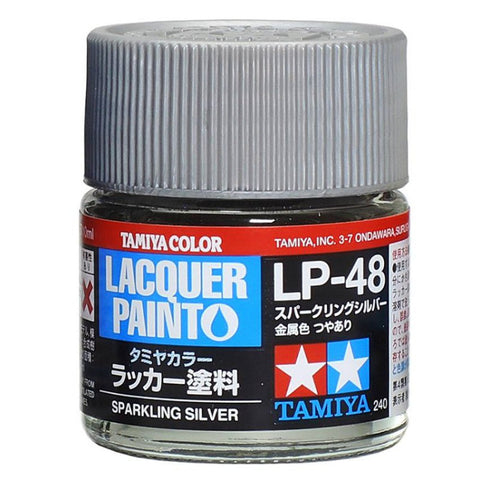 Tamiya Lacquer LP-48 Sparkling Silver