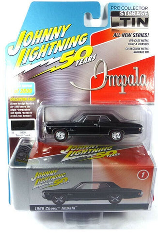 JLCT 1:64 1968 Chevy Impala Black