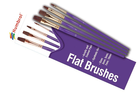 Humbrol Flat Brush Set