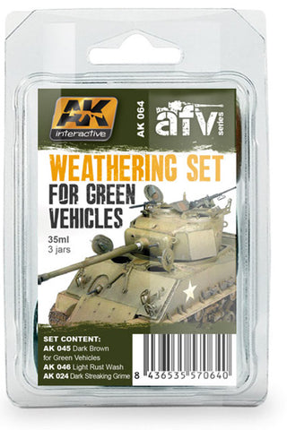 AKI Weathering Set for Green Vehicles