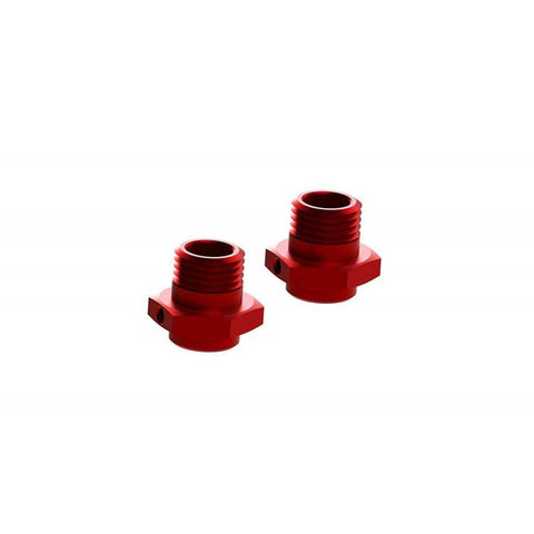 Arrma 17mm Wheel Hex Alum Red (2)