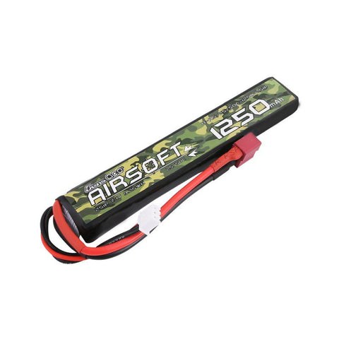 Gens Ace 1250mAh 7.4v Lipo for Airsoft