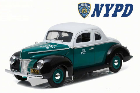 GL 1:18 1940 Ford Duluxe Coupe NYPD