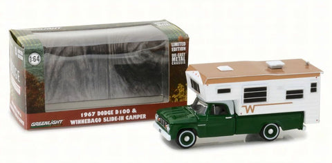 GL 1:64 1967 Dodge D100 w/ slide in camp