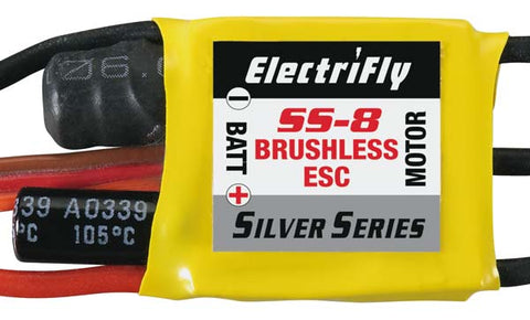 Electrifly Ss8 Brushless 8 Amp Esc
