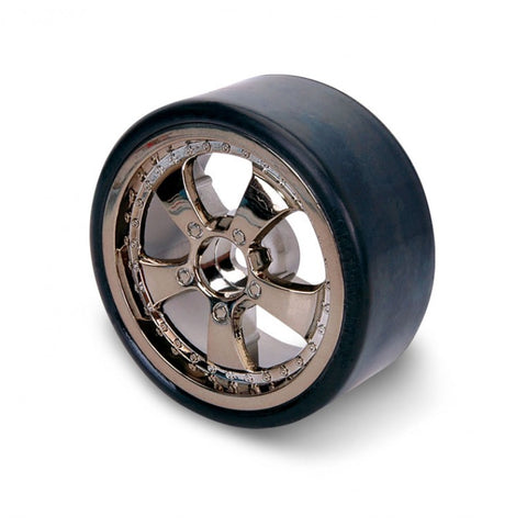 HP 5 SPOKE CHROME  DRIFT WHEEL/TYRE SET