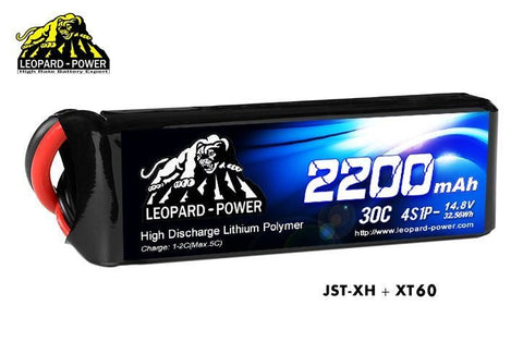 Leopard Power 4S 2200mah 30C Lipo Battery