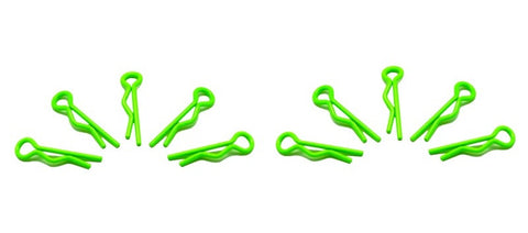 Arrowmax Body Clip 1/10 Fluorescent Green (10)