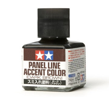 Tamiya Panel Line Accent Color Dark Brow