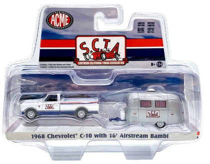 Acme 1:64 S.C.T.A 1968 Chevy C-10 W/16' Airstream Bambi