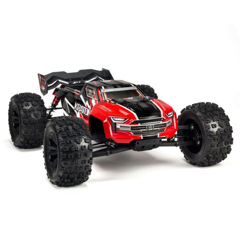 Arrma 1:8 4WD Kraton B/Less M/T Red/Black
