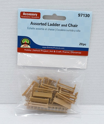 JTT Assorted Ladder And Chairs HO/OO