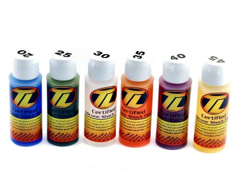 TLR Silicone Shock Oil Six Pack